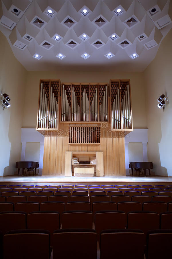 koncertowej kontrolnej sala organowa panelu drymba fotografia stock