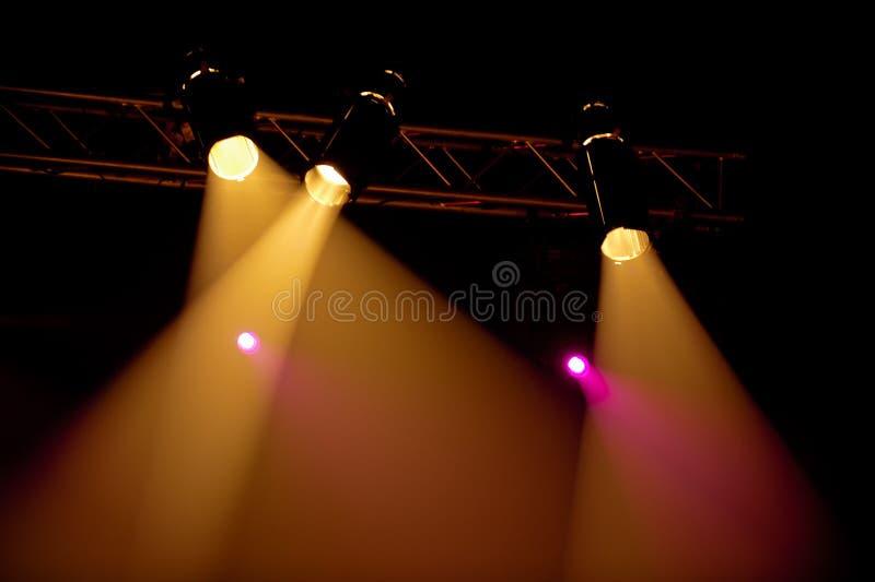 Koncertowy światło reflektorów obraz stock