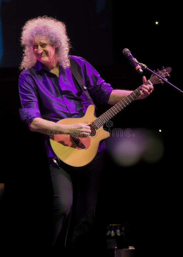 Koncertowy Brian May & Kelly Wellis głos obrazy royalty free