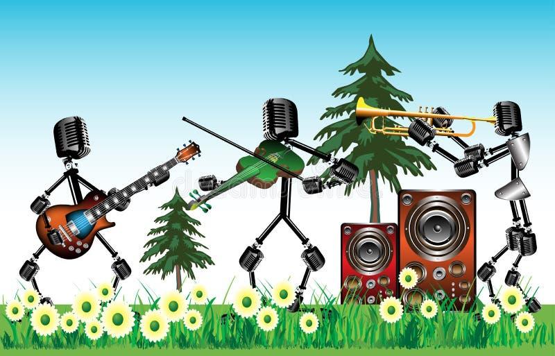 koncertowy lato ilustracji