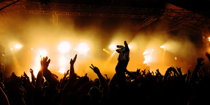 koncertowy tłum obrazy royalty free