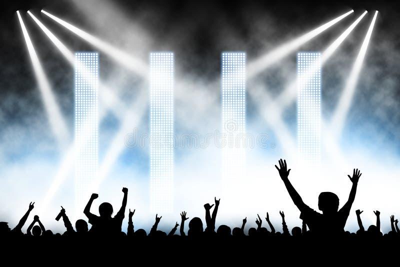 koncertowy tłum ilustracja wektor