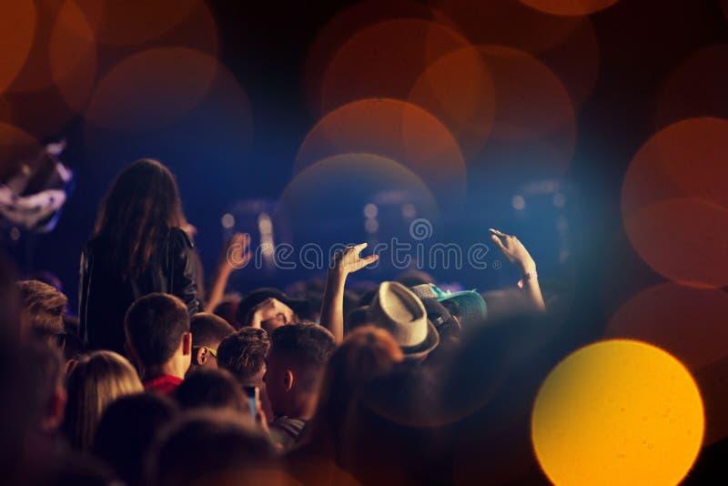 koncertowy tłum obrazy stock
