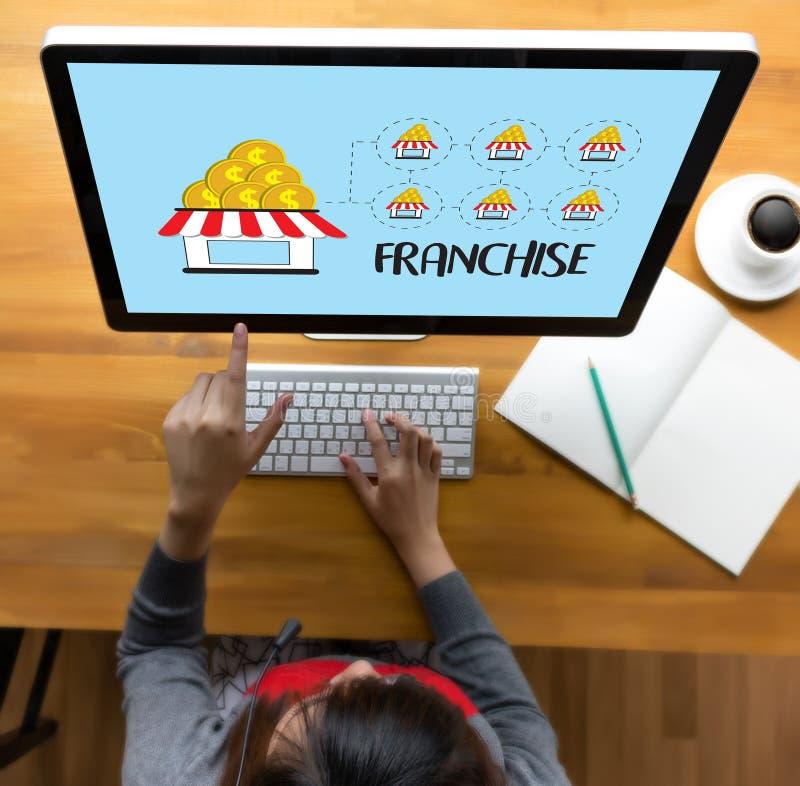 KONCESSIONmarknadsföring som brännmärker detaljhandel- och affärsarbetsbeskickning C royaltyfri foto