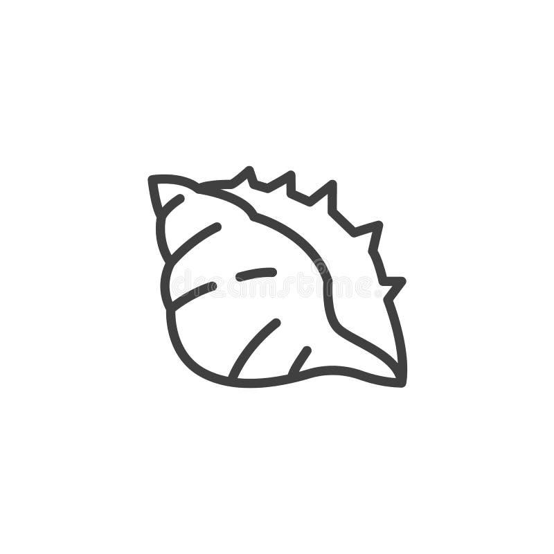 Konchy skorupy linii ikona royalty ilustracja