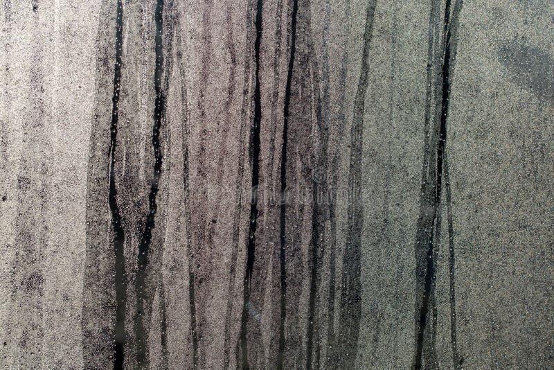 Kondensation auf einem Fensterscheiben-Zusammenfassungsmuster stockbild