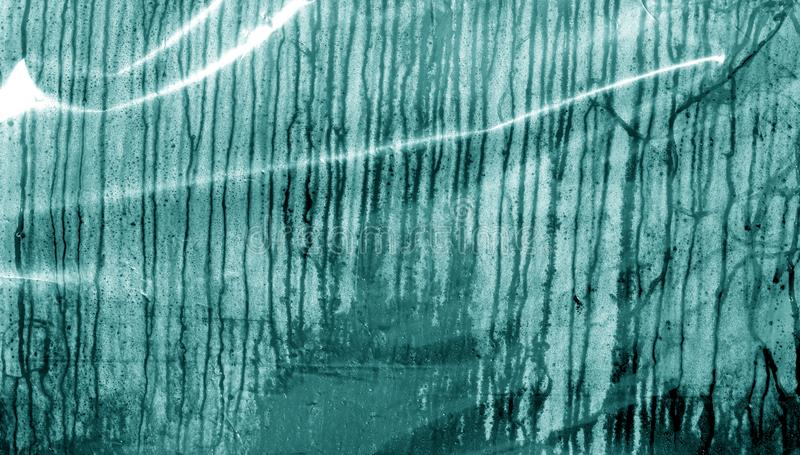 Kondensationsdropptextur i cyan signal royaltyfri fotografi