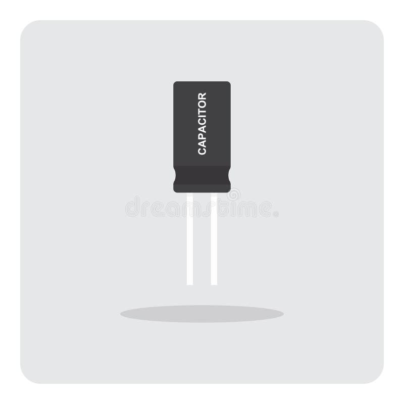 Kondensator för symbol för bräde för elektroniska strömkretsar vektor illustrationer