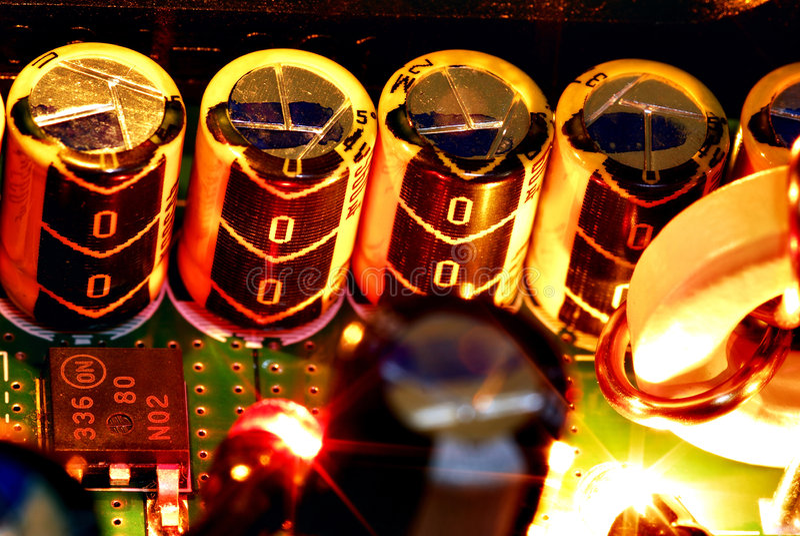 kondensatorer royaltyfri fotografi