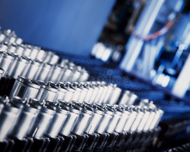 kondensatorproduktion royaltyfri foto