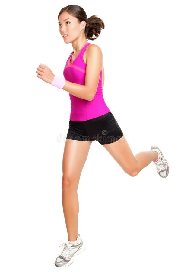 kondition isolerad running kvinna fotografering för bildbyråer