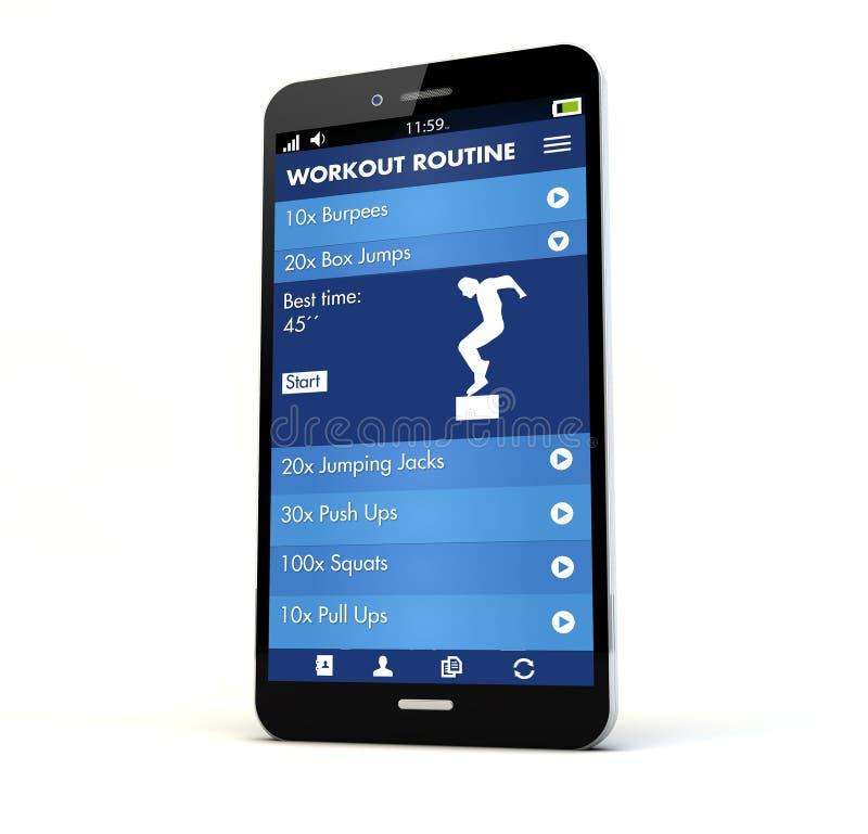konditionapp-telefon royaltyfria foton