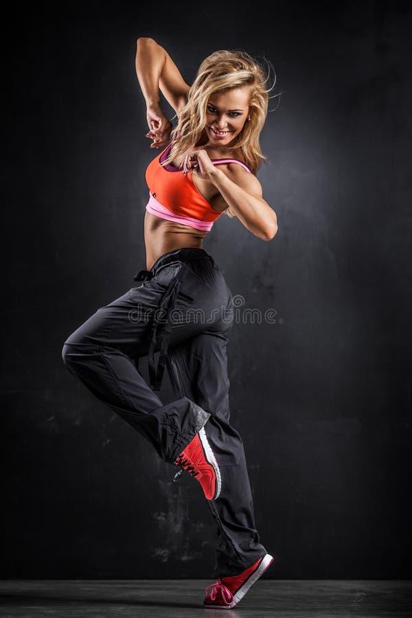 Konditiondansare fotografering för bildbyråer