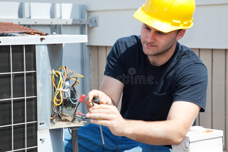 konditionering reparation för luft royaltyfri foto