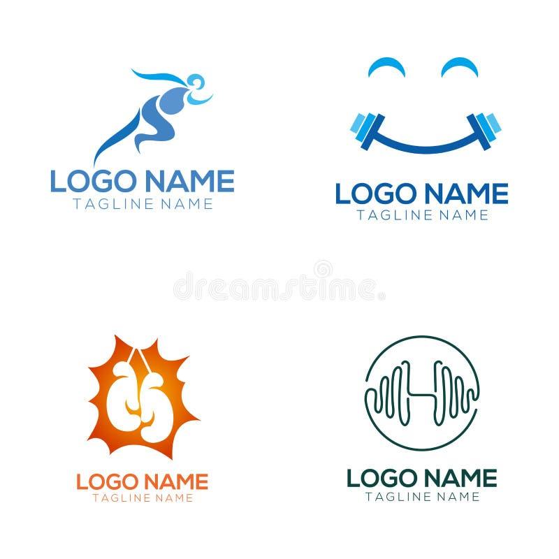 Konditionlogo och symbolsdesign stock illustrationer