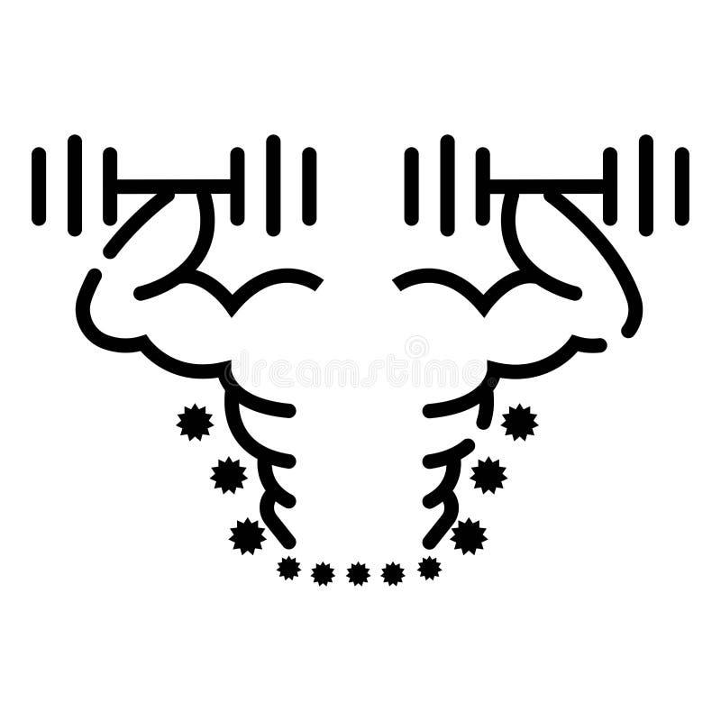 Konditionsymbolsillustration royaltyfri illustrationer