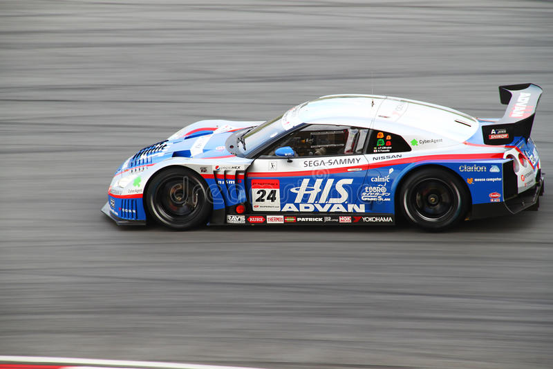Kondo Nissan 24, SuperGT 2010 royalty free stock image