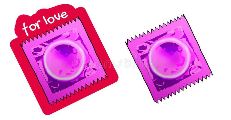 Kondom dla miłości ilustracja wektor