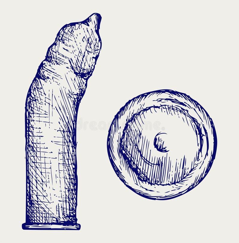 Kondom gebrauchsfertig vektor abbildung