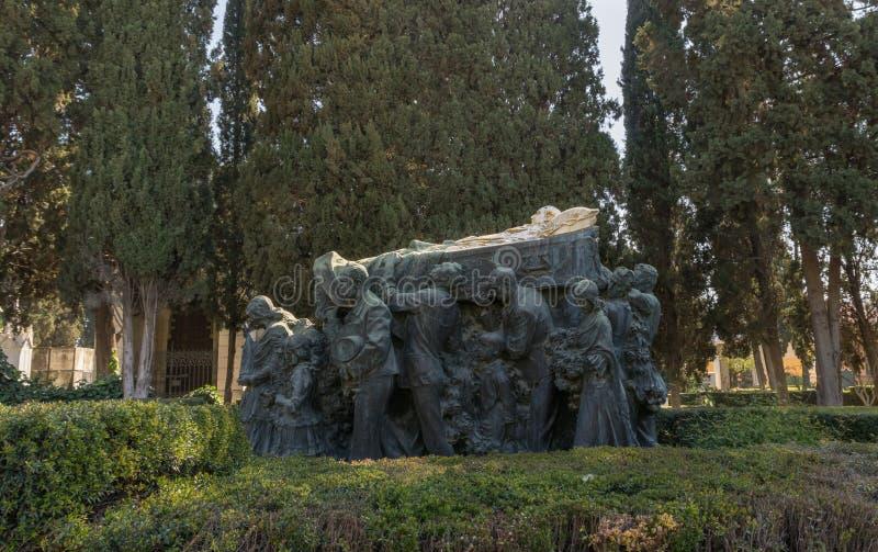 Kondukt żałobny Joselito el Gallo w cmentarzu Seville obraz royalty free