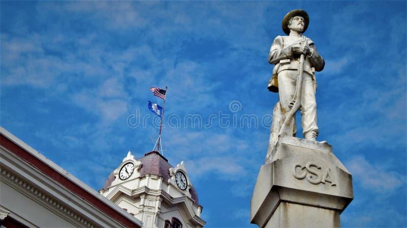 Konfederaci Biały okręg administracyjny Arkansas obrazy royalty free