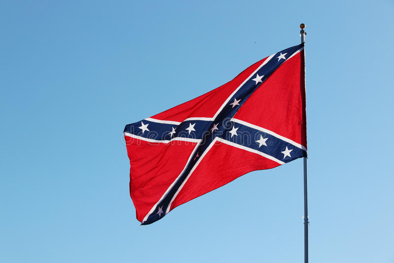 Konfederacyjna buntownik flaga obrazy royalty free