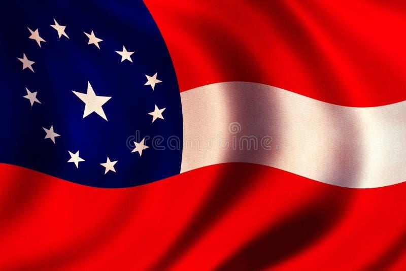 konfederacyjna flagę royalty ilustracja