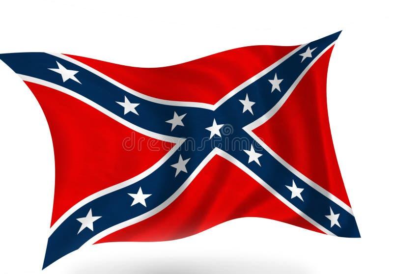 konfederacyjna flaga ilustracji
