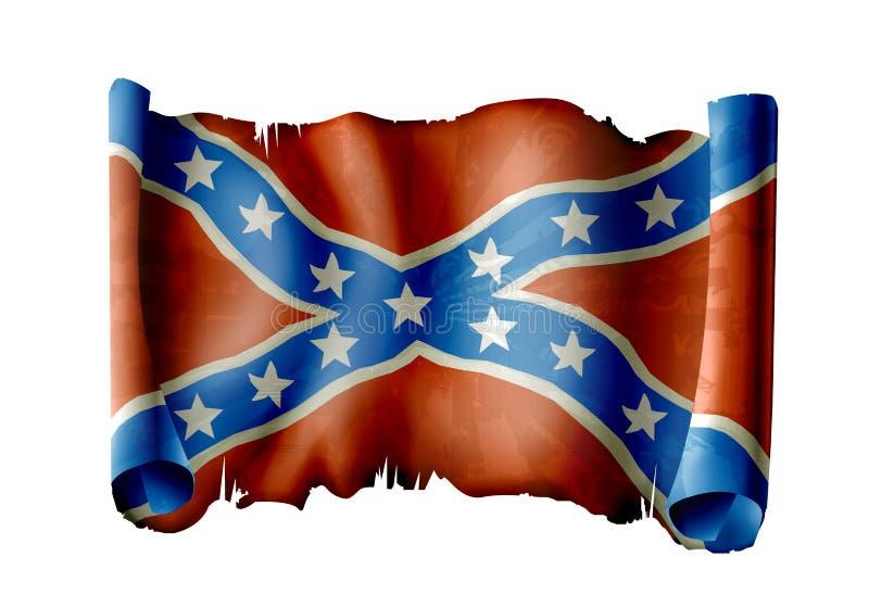 konfederacyjna flaga royalty ilustracja