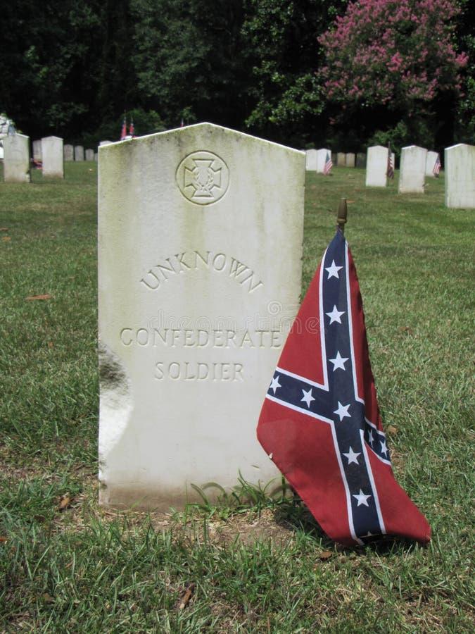 konfederacyjnego żołnierza nieznane zdjęcia stock