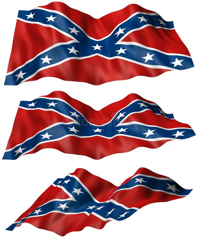 konfederacyjnej flaga buntownik ilustracji