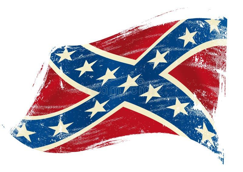 Konfederacyjnej flaga grunge royalty ilustracja