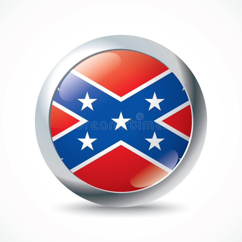 Konfederacyjnej flagi guzik royalty ilustracja