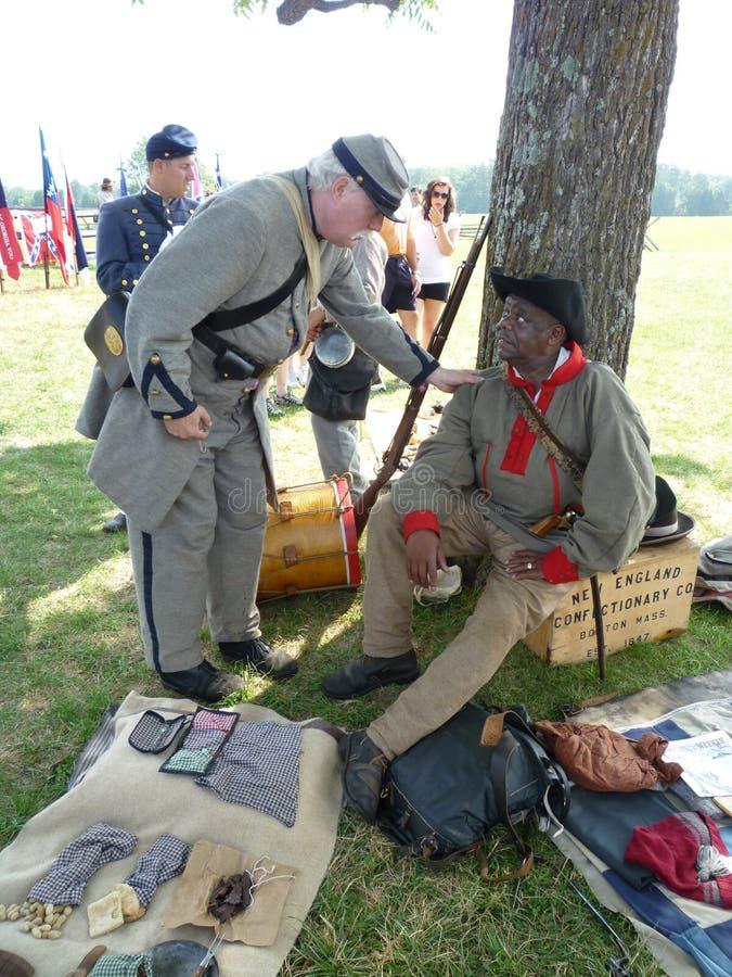 konfederacyjni odpoczynkowi żołnierze zdjęcie stock