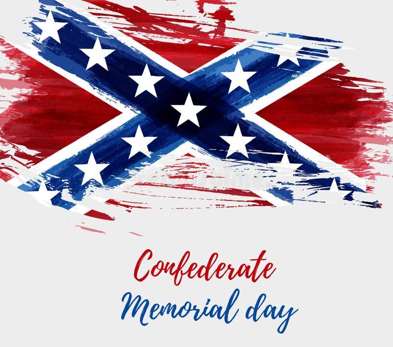 Konfederacyjny dzień pamięci royalty ilustracja