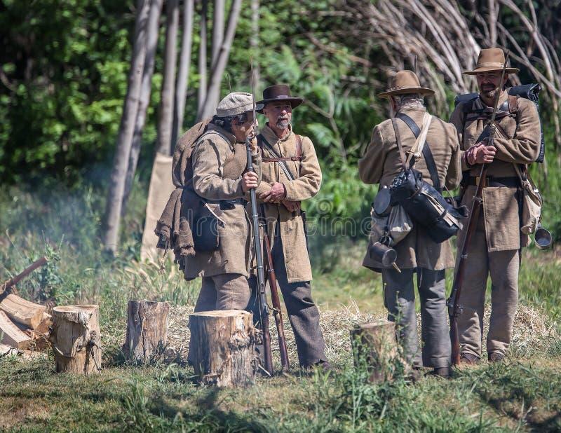 Konfederacyjny obóz zdjęcie stock