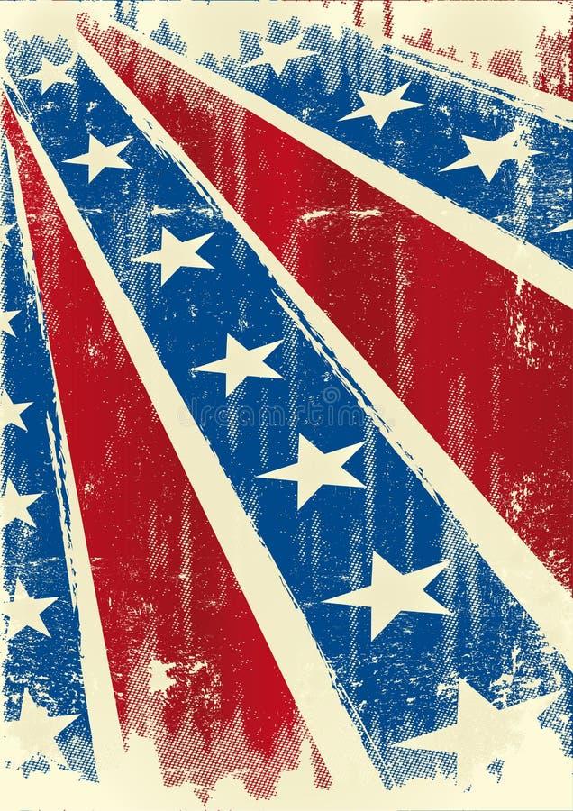 konfederacyjny plakat royalty ilustracja