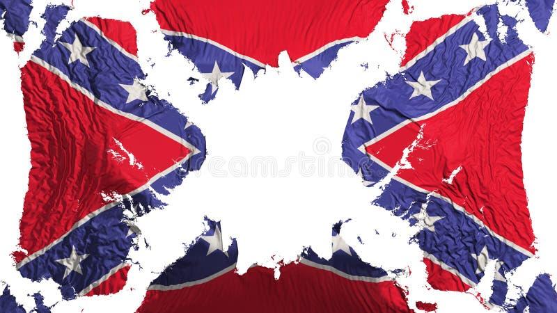 Konfederat drzeję chorągwiany trzepotać w wiatrze royalty ilustracja