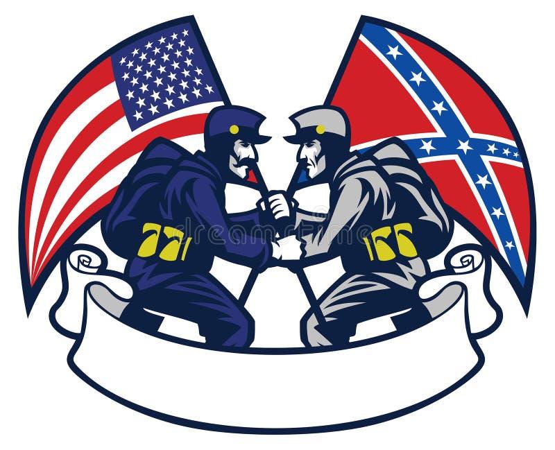 Konfederat vs zrzeszeniowy żołnierz ilustracja wektor