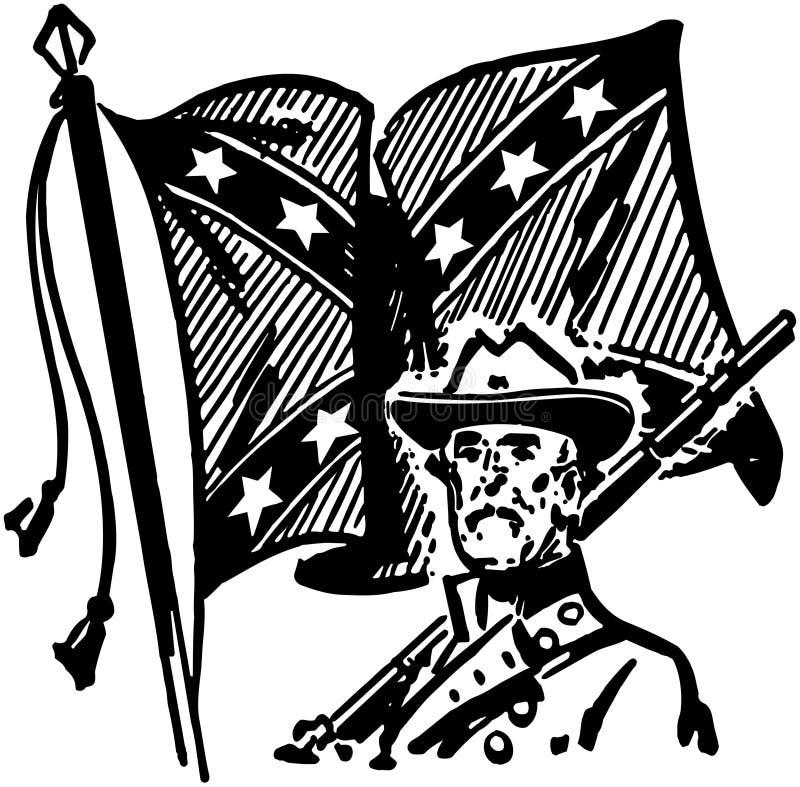 Konfederat Z flaga royalty ilustracja