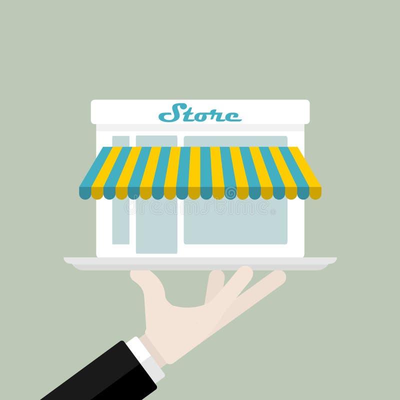 Konfekcyjny sklep ilustracji