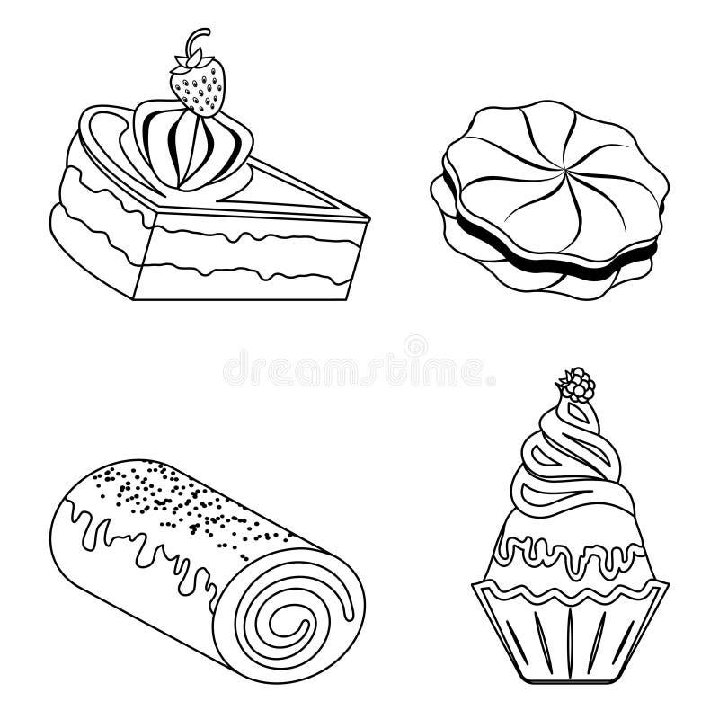 Konfektionsartikel, Bäckereiprodukte lizenzfreie abbildung