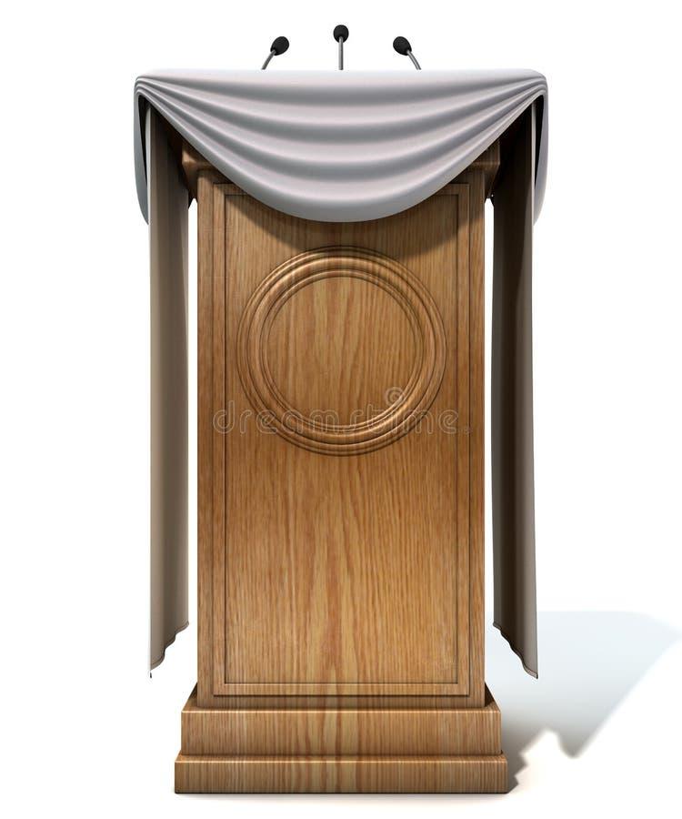 Konferenci Prasowej podium Z Drapować obrazy stock