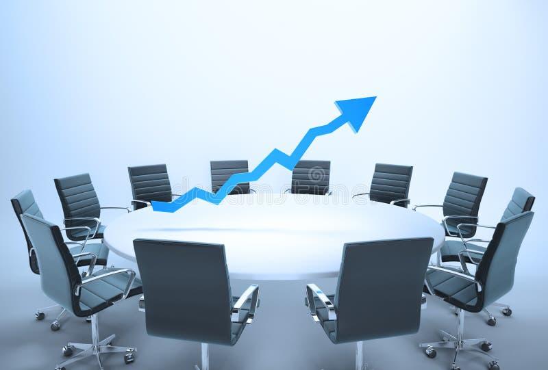 Konferenci stołu wykres ilustracji