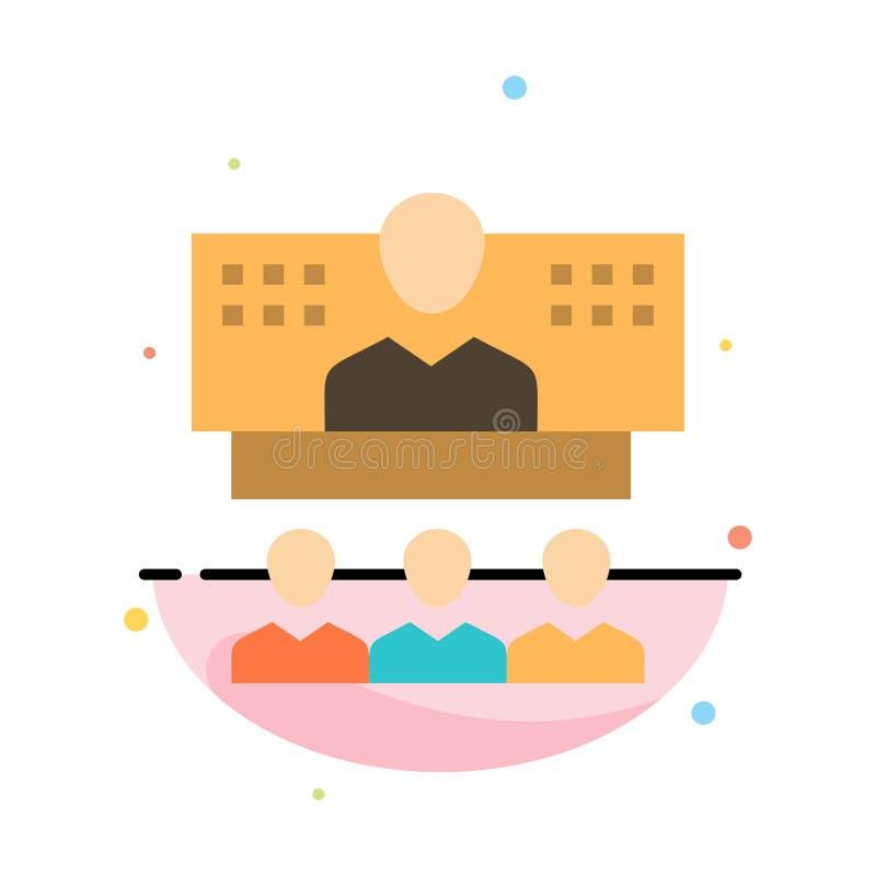 Konferencja, biznes, wezwanie, związek, internet, Online Abstrakcjonistyczny Płaski kolor ikony szablon ilustracji