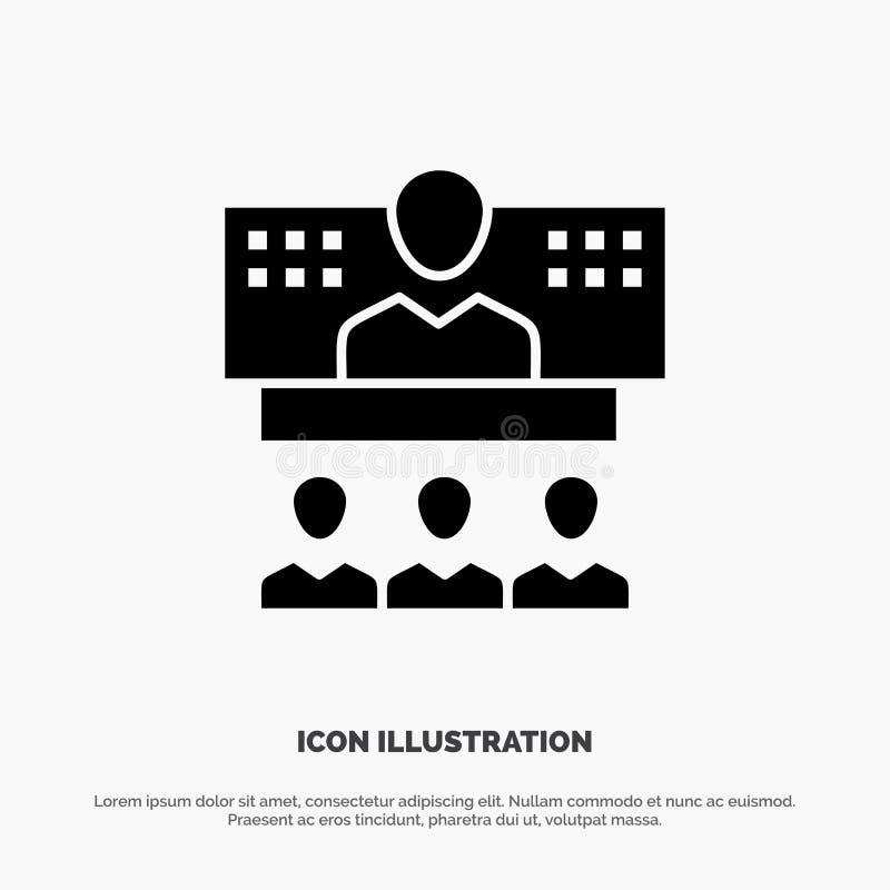 Konferencja, biznes, wezwanie, związek, internet, Online stały glif ikony wektor ilustracja wektor
