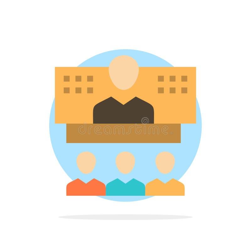 Konferencja, biznes, wezwanie, związek, internet, Onlinego Abstrakcjonistycznego okręgu tła koloru Płaska ikona ilustracja wektor