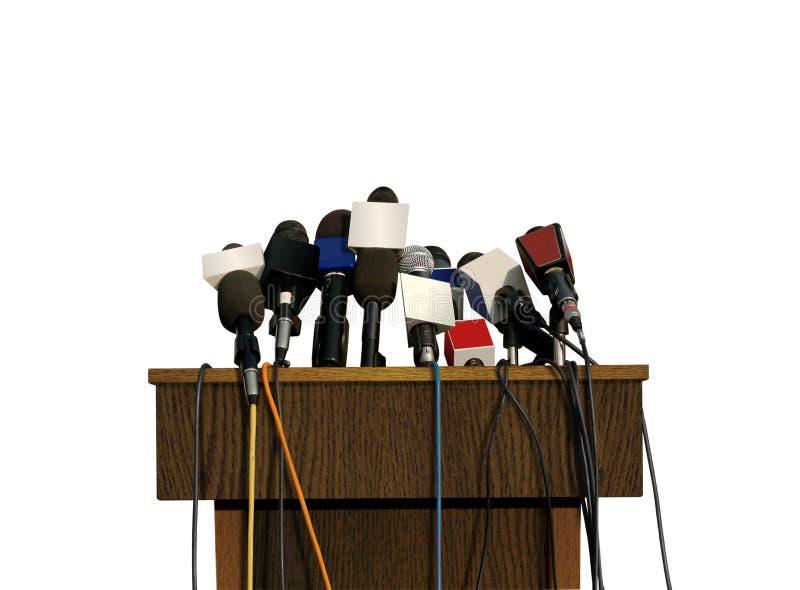 Konferencja Prasowa mikrofony zdjęcia stock