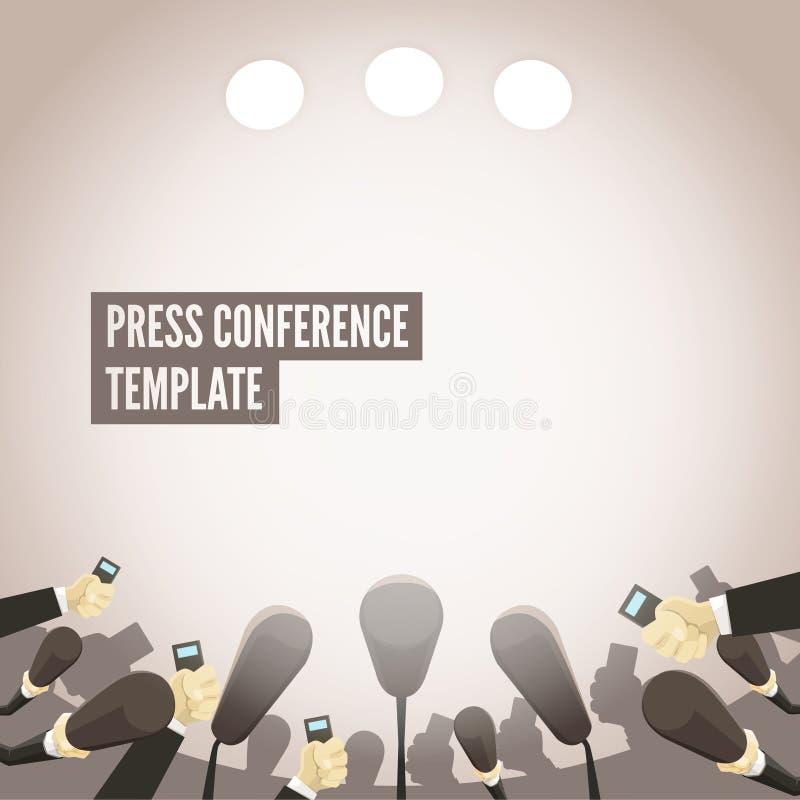Konferencja prasowa szablon ilustracji
