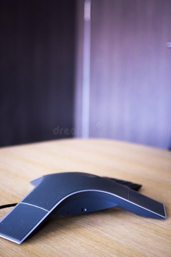 Konferencja telefoniczna głośnikowy telefon obraz stock